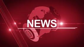 Rouge 4K générique de fond d'actualités de globe banque de vidéos