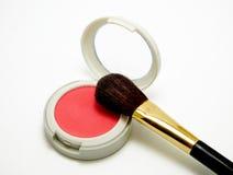 Rouge kit blush powder. On white background stock images
