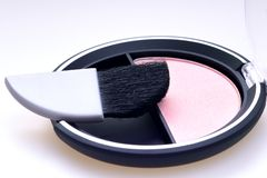 Rouge kit blush powder Royalty Free Stock Photography