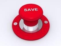 Rouge le bouton de sauvegarde Image stock