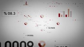 Rouge Lite de graphiques et de données illustration libre de droits