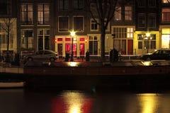 rouge néerlandais de lumière de district d'Amsterdam photos stock