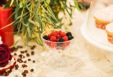 rouge noir de sucreries de baie formé Photos stock