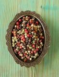 rouge, noir et et poivre blanc d'épice images libres de droits