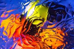 Rouge, orange, conception abstraite colorée bleue et jaune, texture Beaux milieux images stock