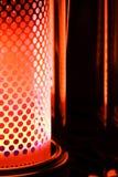 rouge orange de kérosène de chaufferette de lueur photos libres de droits