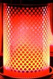 rouge orange de paraffine de chaufferette de lueur Image libre de droits