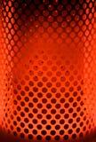 rouge orange de paraffine de chaufferette de lueur Photographie stock