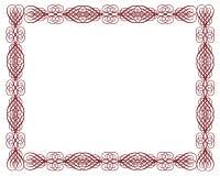 rouge ornemental de certificat de cadre illustration de vecteur