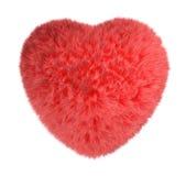 rouge pelucheux de coeur Photos stock
