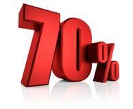 Rouge 70 pour cent Photo libre de droits