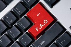 rouge principal du clavier q de f photos libres de droits