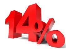 Rouge quatorze pour cent  Remise 14% illustration libre de droits