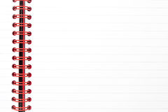 rouge rayé grippant de bloc-notes Photo libre de droits