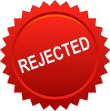 Rouge rejeté de timbre de joint illustration libre de droits