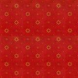 Rouge riche avec la fleur minuscule d'or Image stock