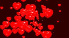 Rouge romantique de symbole d'amour de coeurs illustration libre de droits