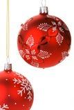 rouge s'arrêtant de Noël de babioles Image stock