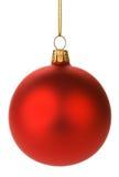 rouge s'arrêtant de Noël de babioles Images stock