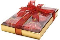 rouge six de coeurs de cadeau de Noël Image stock