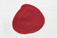 Rouge sur le papier Photos libres de droits
