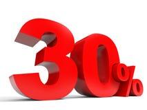 Rouge trente pour cent  Escompte 30% Images libres de droits