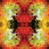 Rouge triangulaire BackgroundÂŒ de mosaïque illustration de vecteur