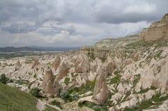 Rouge/vallée de Rose, Cappadocia, Turquie photo stock