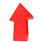 Rouge vers le haut de flèche illustration de vecteur