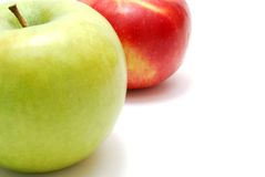 rouge vert de pommes Photo stock