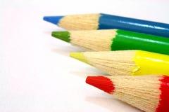 Rouge, vert, jaune et bleu image stock