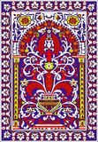 Rouge violet de tuile de fleur arabe de fresca Photo libre de droits