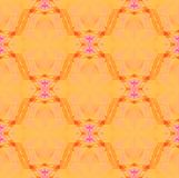 Rouge violet rose jaune-orange de rétros ornements floraux sans couture réguliers brouillé illustration stock