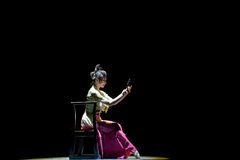 Rouged Lips-Chinese classical dance Stock Photo
