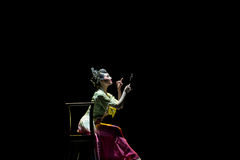 Rouged Lips-Chinese classical dance Royalty Free Stock Photos