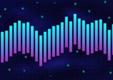 Rougeoient la ligne bleue violette fond monochrome de texture illustration de vecteur