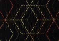 Rougeoient la ligne sur le fond d'hexagone illustration stock