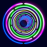 Rougeoyer coloré sonne - l'art abstrait du fond eps10 Photo libre de droits