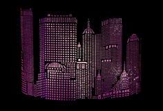 Rougeoyer d'abrégé sur ville Image stock