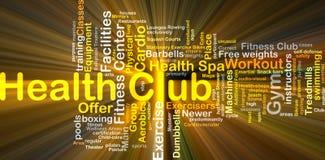 Rougeoyer de concept de fond de club de santé Image stock
