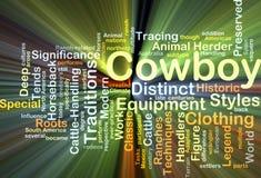 Rougeoyer de concept de fond de cowboy Photographie stock