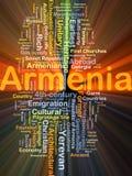 Rougeoyer de concept de fond de l'Arménie Images stock