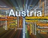 Rougeoyer de concept de fond de l'Autriche Photo libre de droits