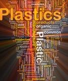 Rougeoyer de concept de fond de matière plastique illustration de vecteur