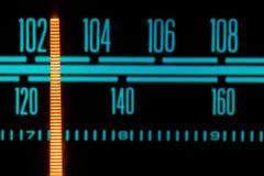 Rougeoyer par radio avec le marqueur fonctionnant par les différentes stations et fréquences image stock