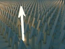 Rougeoyer vers le haut de la flèche entre plus foncé illustration libre de droits