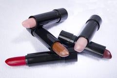 Rouges à lèvres géométriques Photographie stock