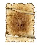 Rough antique parchment paper scrolls Royalty Free Stock Photos