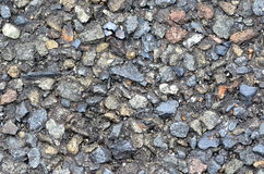 Rough asphalt texture - abstract road background. Closeup Stock Photo