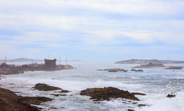 Rough Atlantic Ocean in Essaouira, Morocco Royalty Free Stock Photos